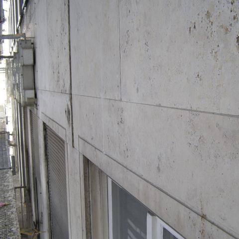 beschädigte natursteinfassade - gutachten